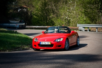 "Enjoying the ""Twisties"" in our Honda S2000"